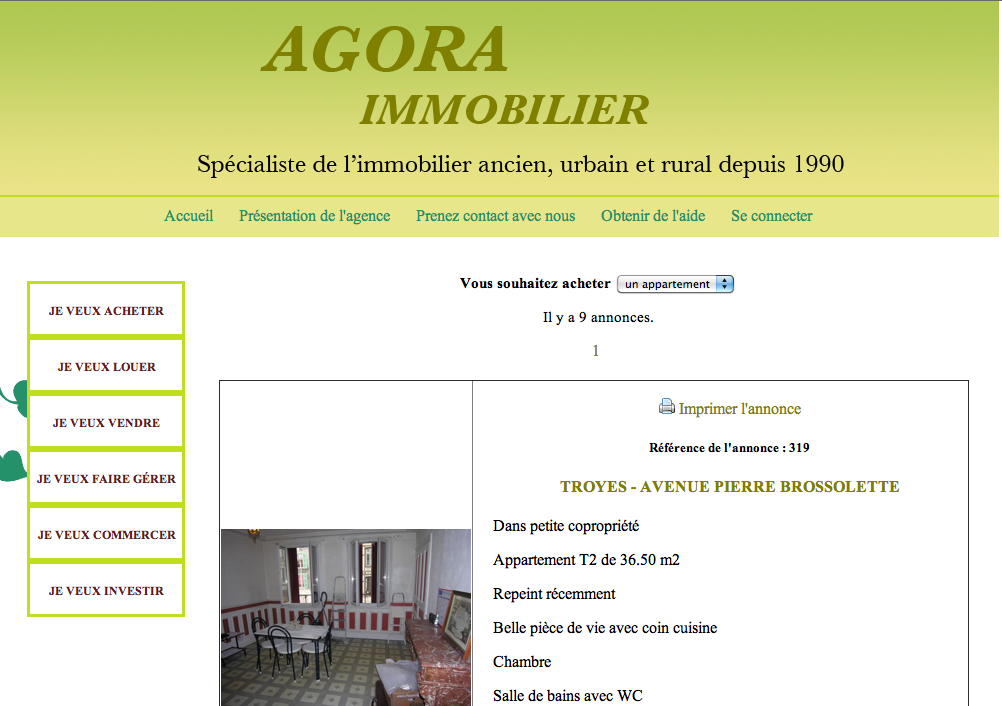 On this website, you can find all the announcements of the properties to be sold and rented in the district of Troyes.